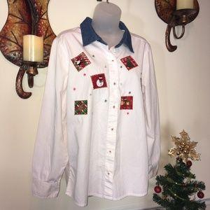 Tops - Casual Christmas Shirt - Large
